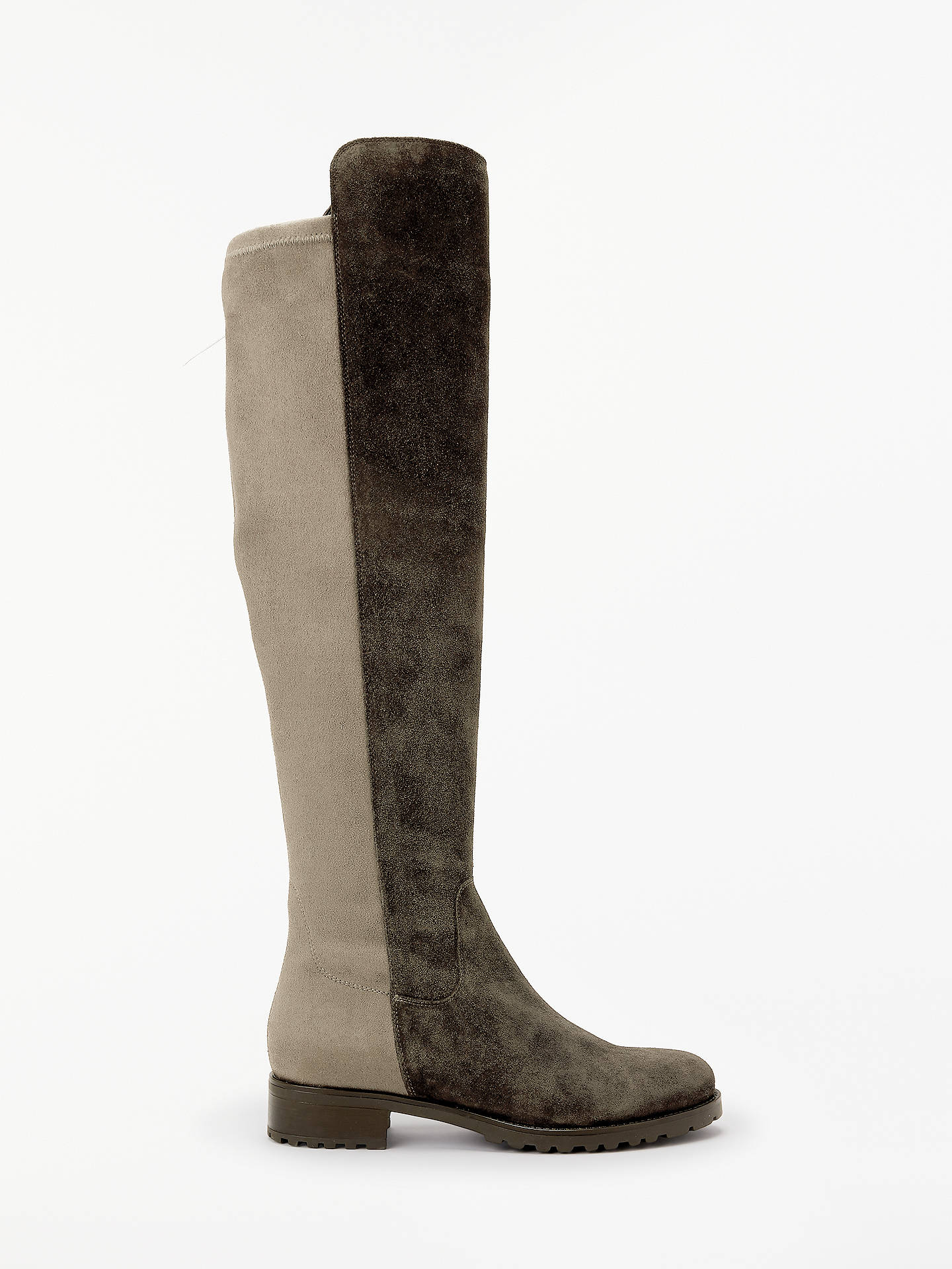 ed01f01fdb2b Buy John Lewis & Partners Tilde Over The Knee Boots, Neutral Suede, 3  Online ...