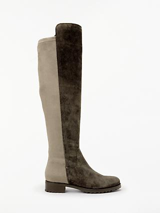 John Lewis & Partners Tilde Over The Knee Boots, Neutral Suede
