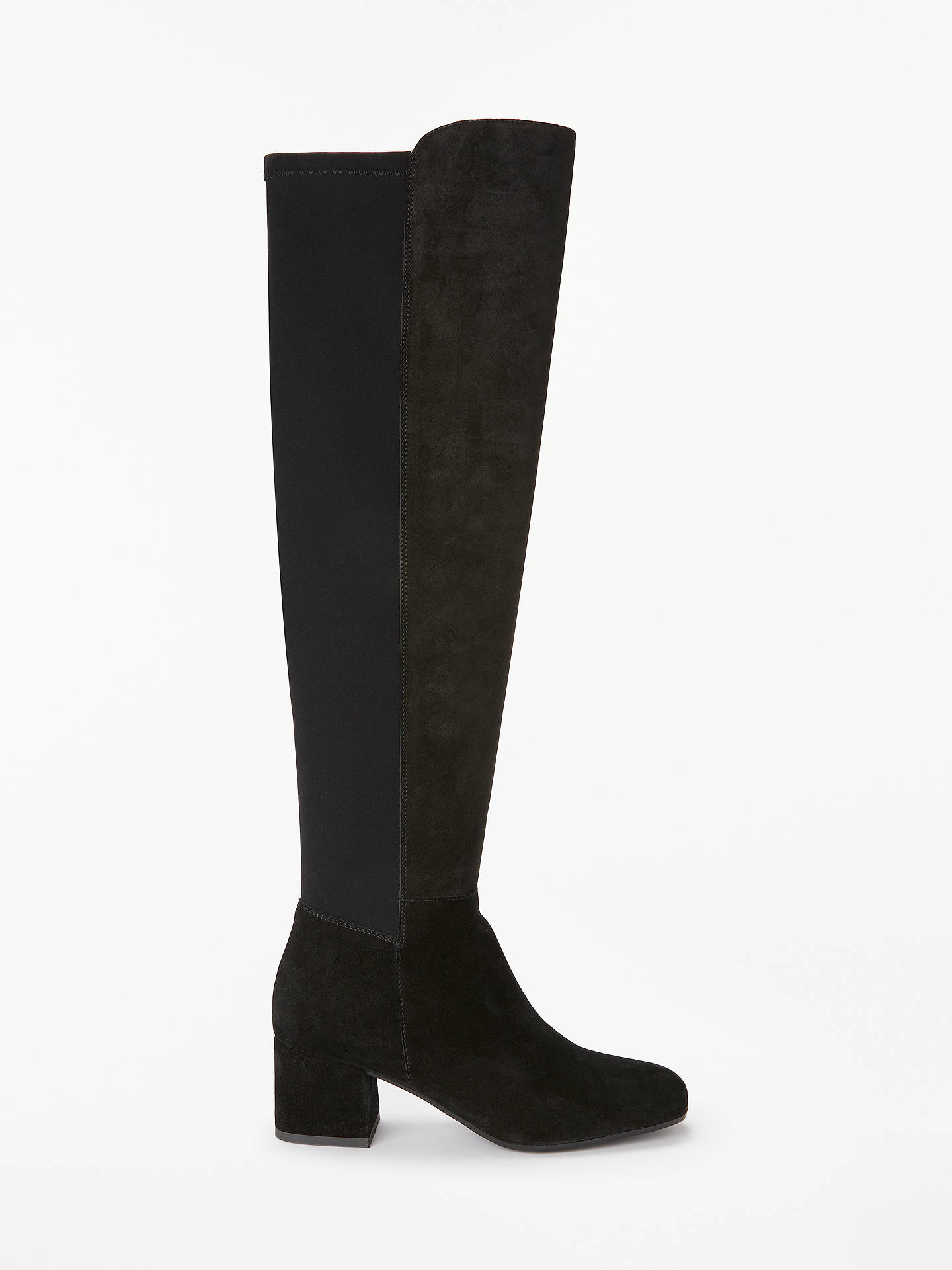 8c10d6a01 Buy John Lewis & Partners Stephanie Stretch Panel Over the Knee Boots, Black  Suede, ...