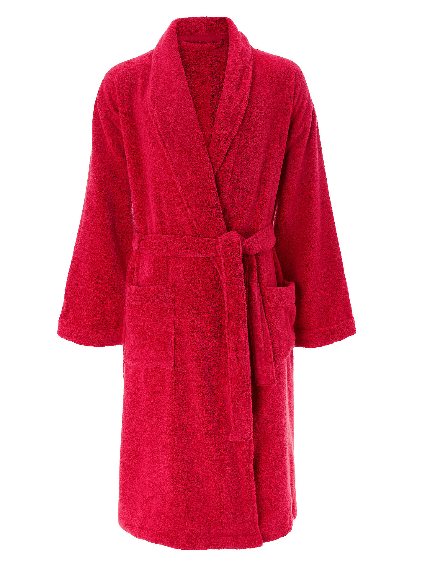 391aae17f8 John Lewis   Partners Super Soft and Cosy Unisex Cotton Bath Robe at ...