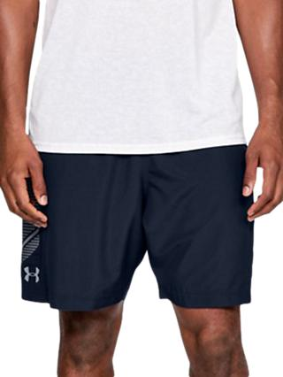 Under Armour Woven Graphic Training Shorts, Academy/Steel