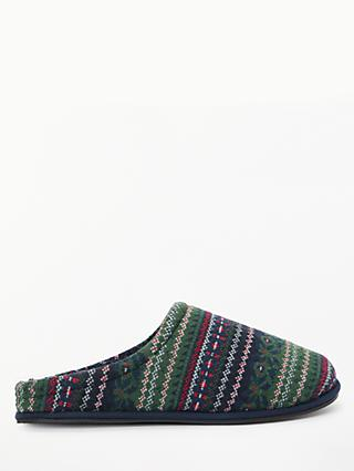 John Lewis & Partners Fairisle Mule Slippers, Multi