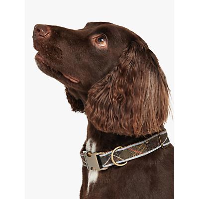 Image of Barbour Reflective Tartan Dog Collar