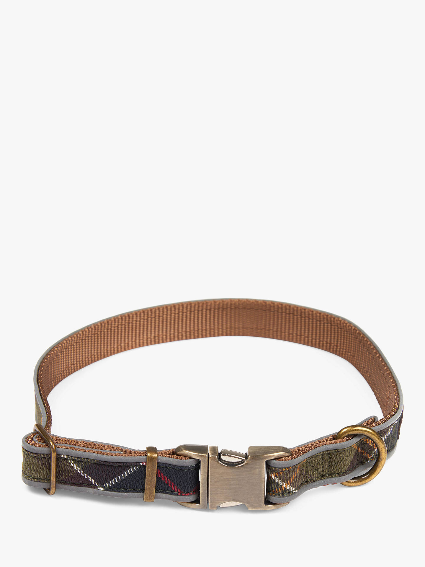 Buy Barbour Reflective Tartan Dog Collar, Small Online at johnlewis.com