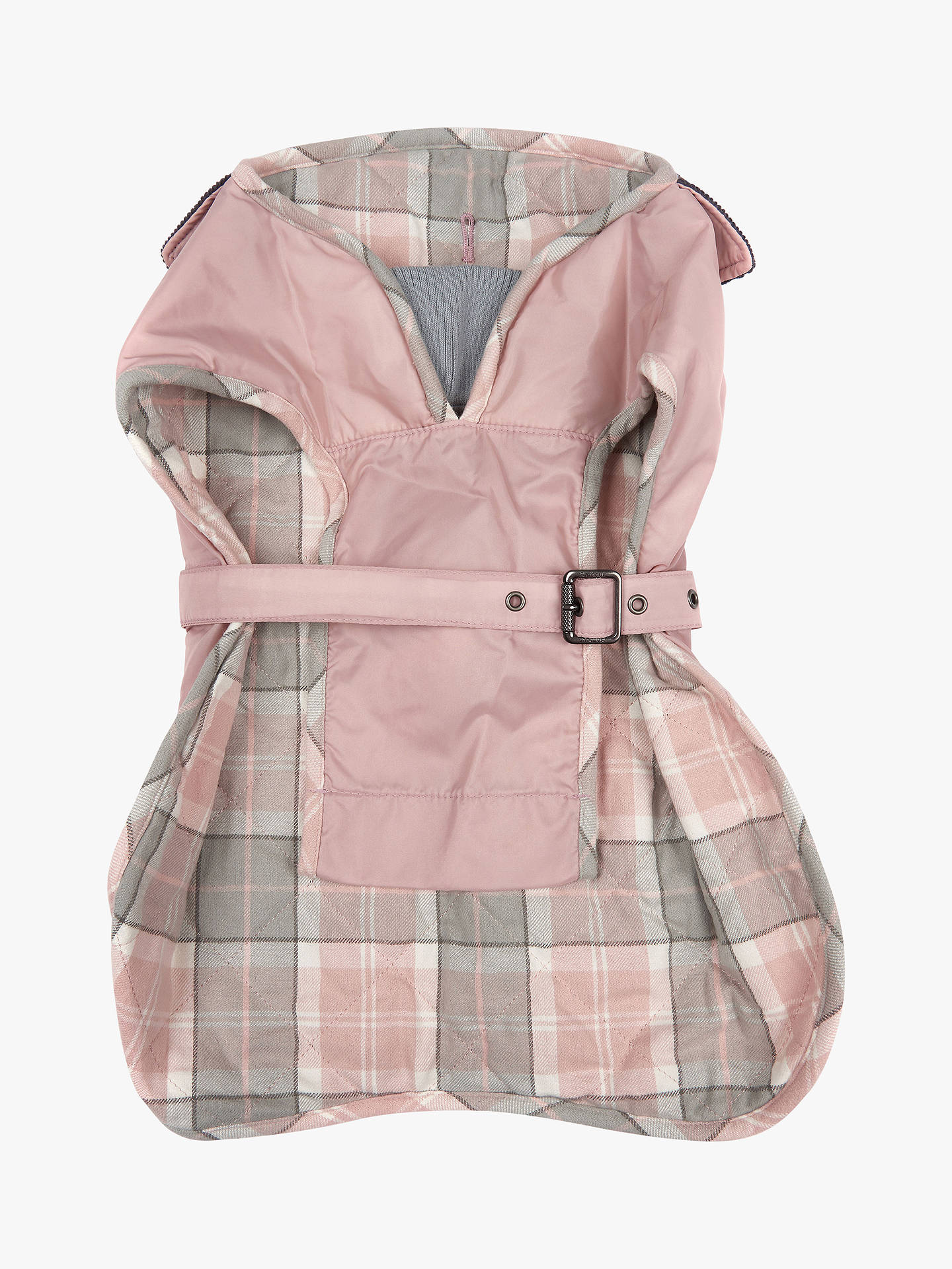 Buy Barbour Tartan Dog Coat, Pink, Small Online at johnlewis.com