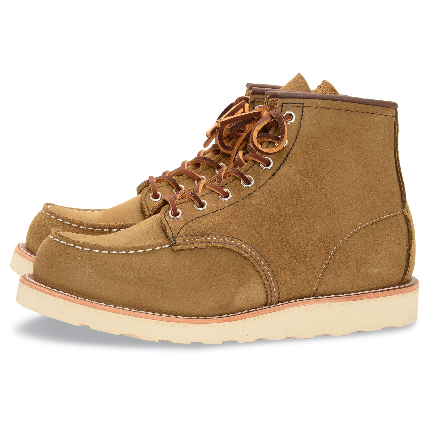 Red Wing Red Wing 875 Moc Toe Boot, Olive Mohave