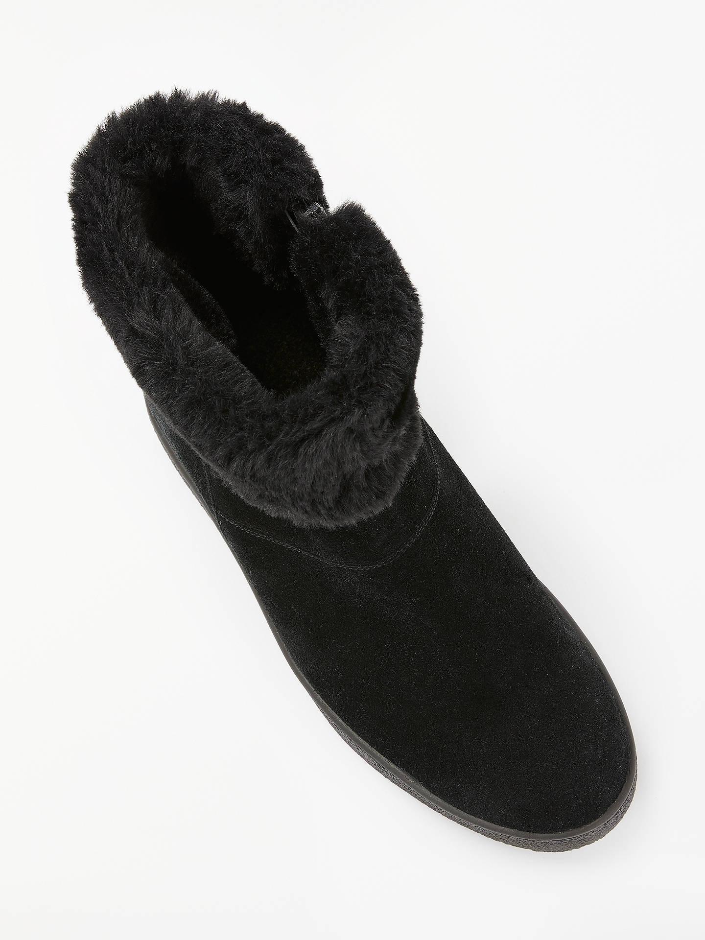 Buy John Lewis & Partners Designed for Comfort Quincy Faux Fur Collar Boots, Black Suede, 7 Online at johnlewis.com