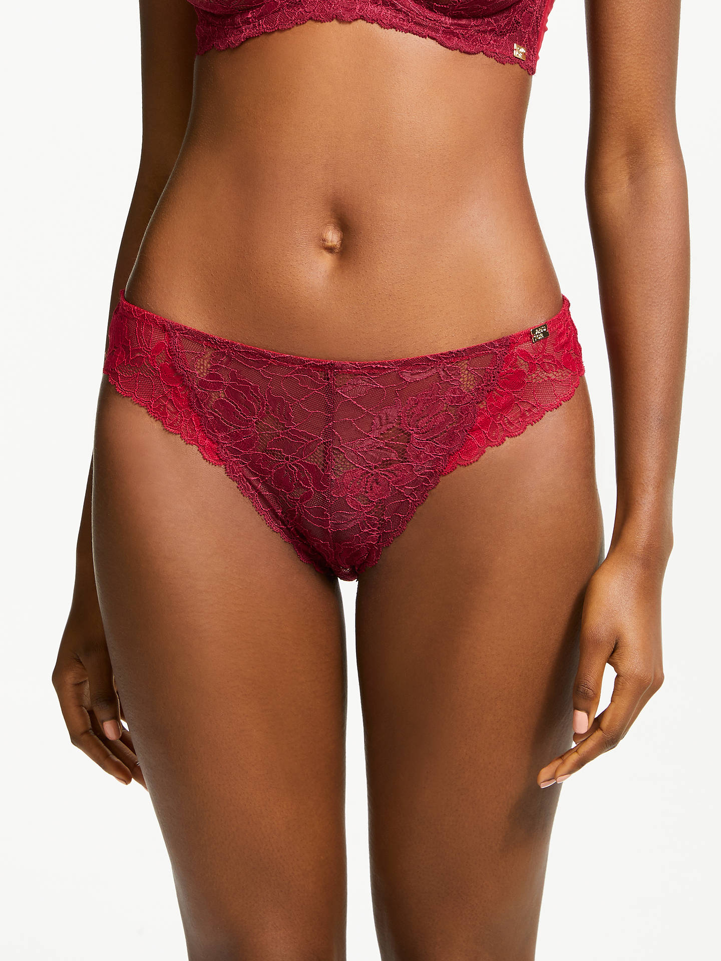 BuyAND/OR Marni Brazilian Briefs, Red, 16 Online at johnlewis.com
