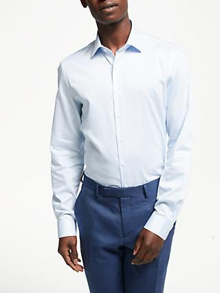 Calvin Klein Fine Stripe Slim Fit Shirt, Blue