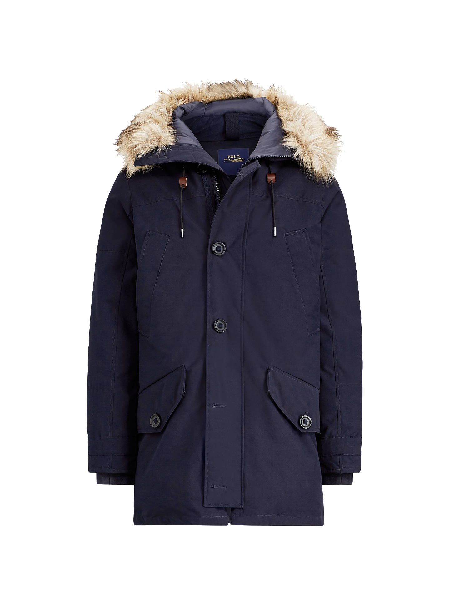 1d537d091 Polo Ralph Lauren Down Parka Jacket, Aviator Navy at John Lewis ...
