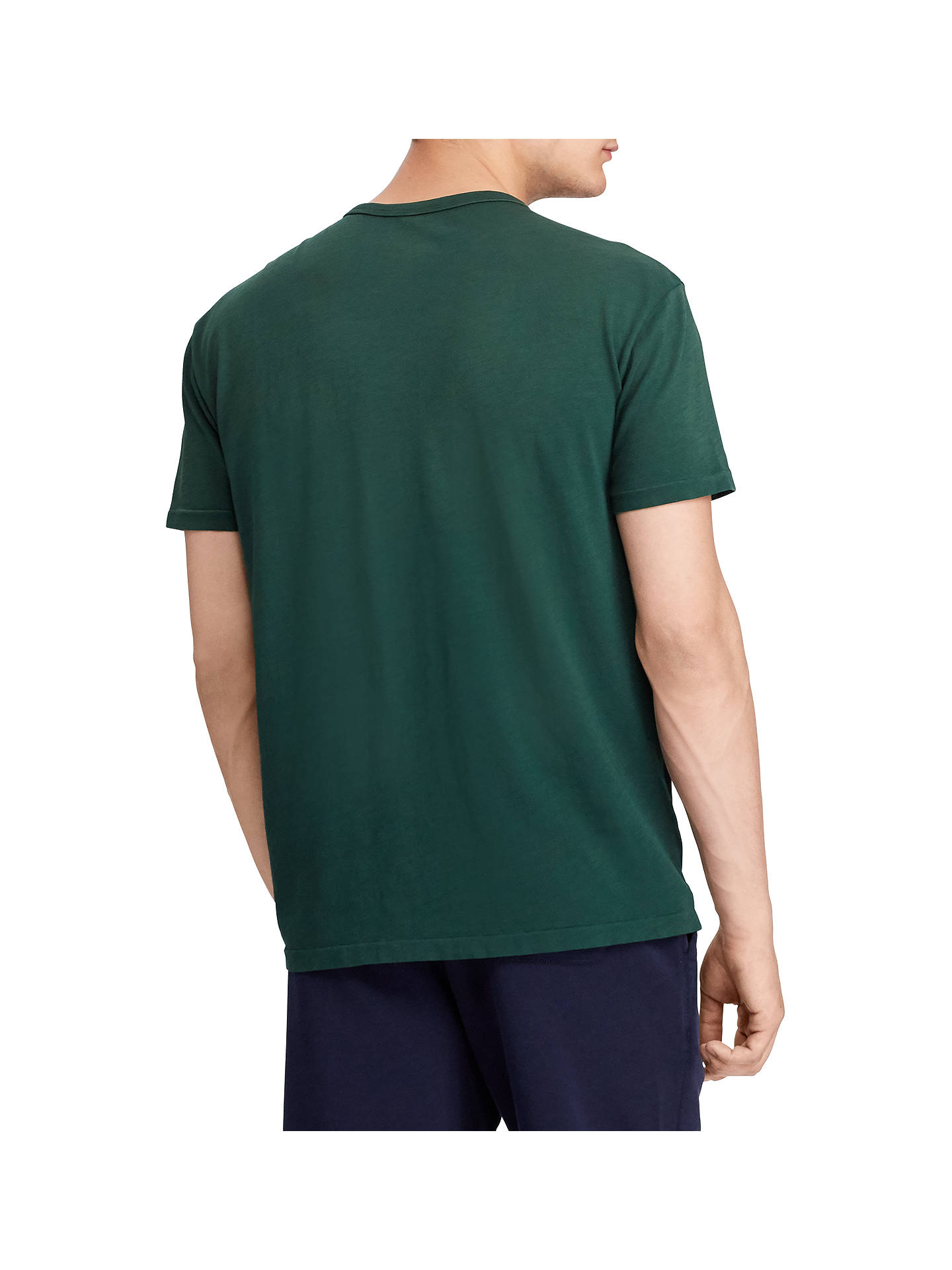 Buy Polo Ralph Lauren Short Sleeve Graphic T-Shirt, College Green, S Online at johnlewis.com