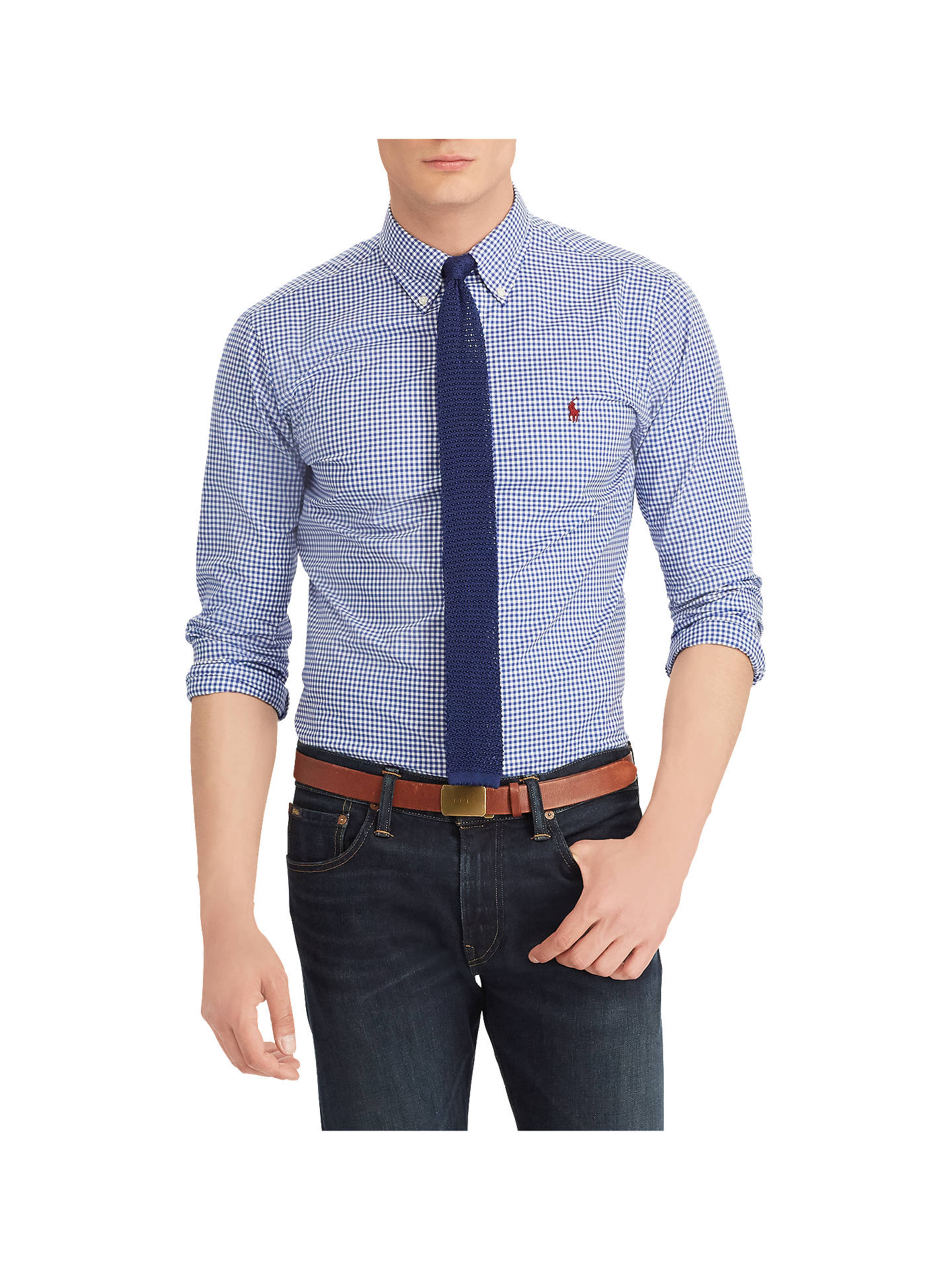 2b54422aa Polo Ralph Lauren Poplin Gingham Shirt at John Lewis   Partners