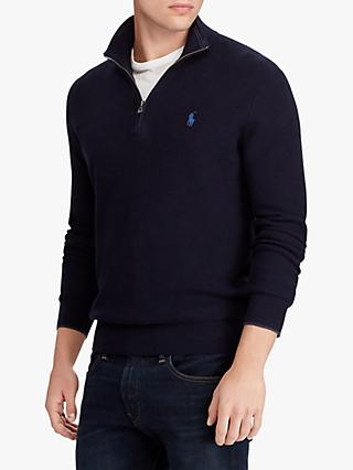 Polo Ralph Lauren Half Zip Textured Jumper