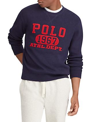 938b09ed0d7 Polo Ralph Lauren Long Sleeve Embroidered Sweatshirt