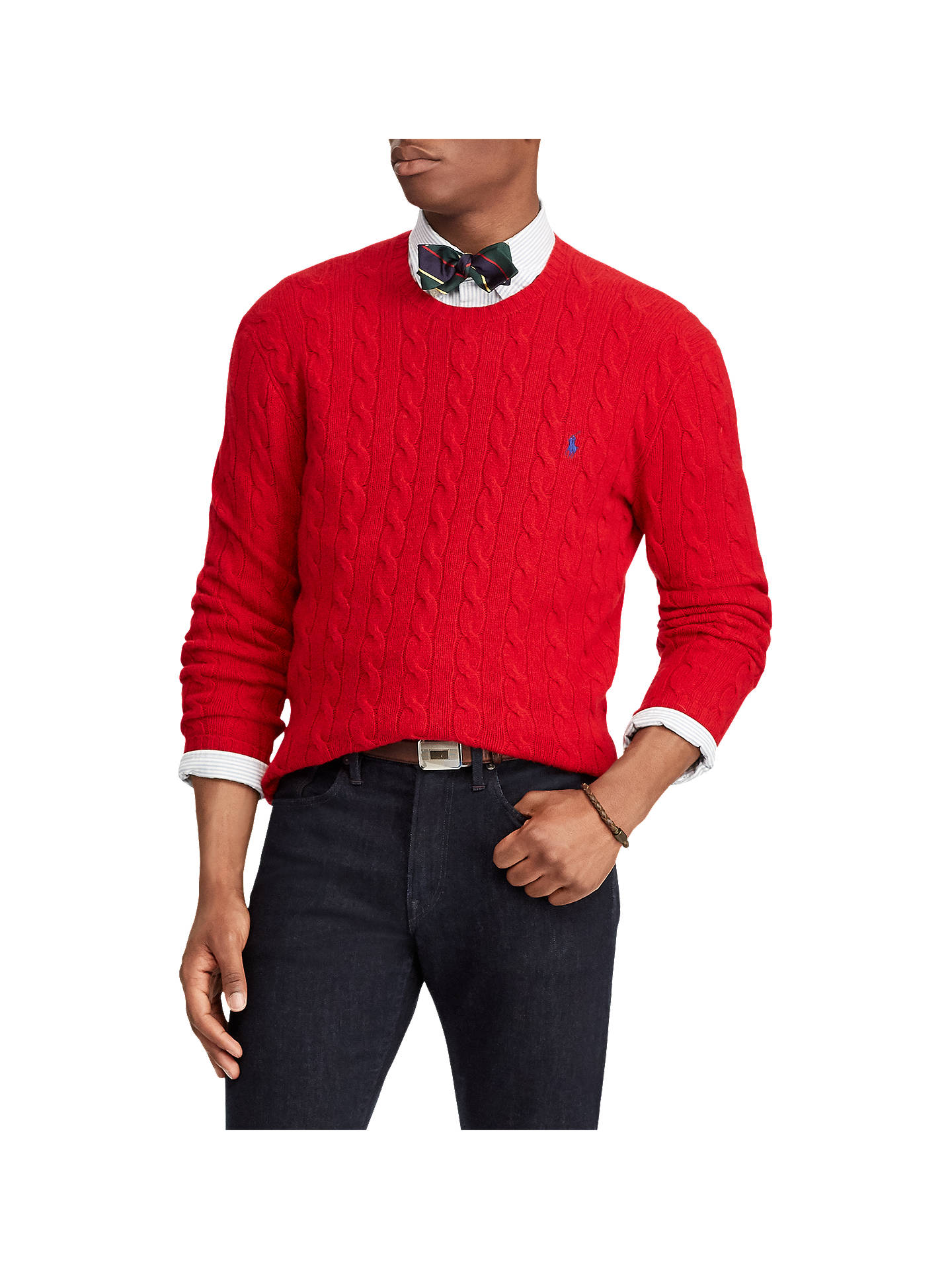 2ea046844 Polo Ralph Lauren Long Sleeve Wool Cable Knit Jumper at John Lewis ...