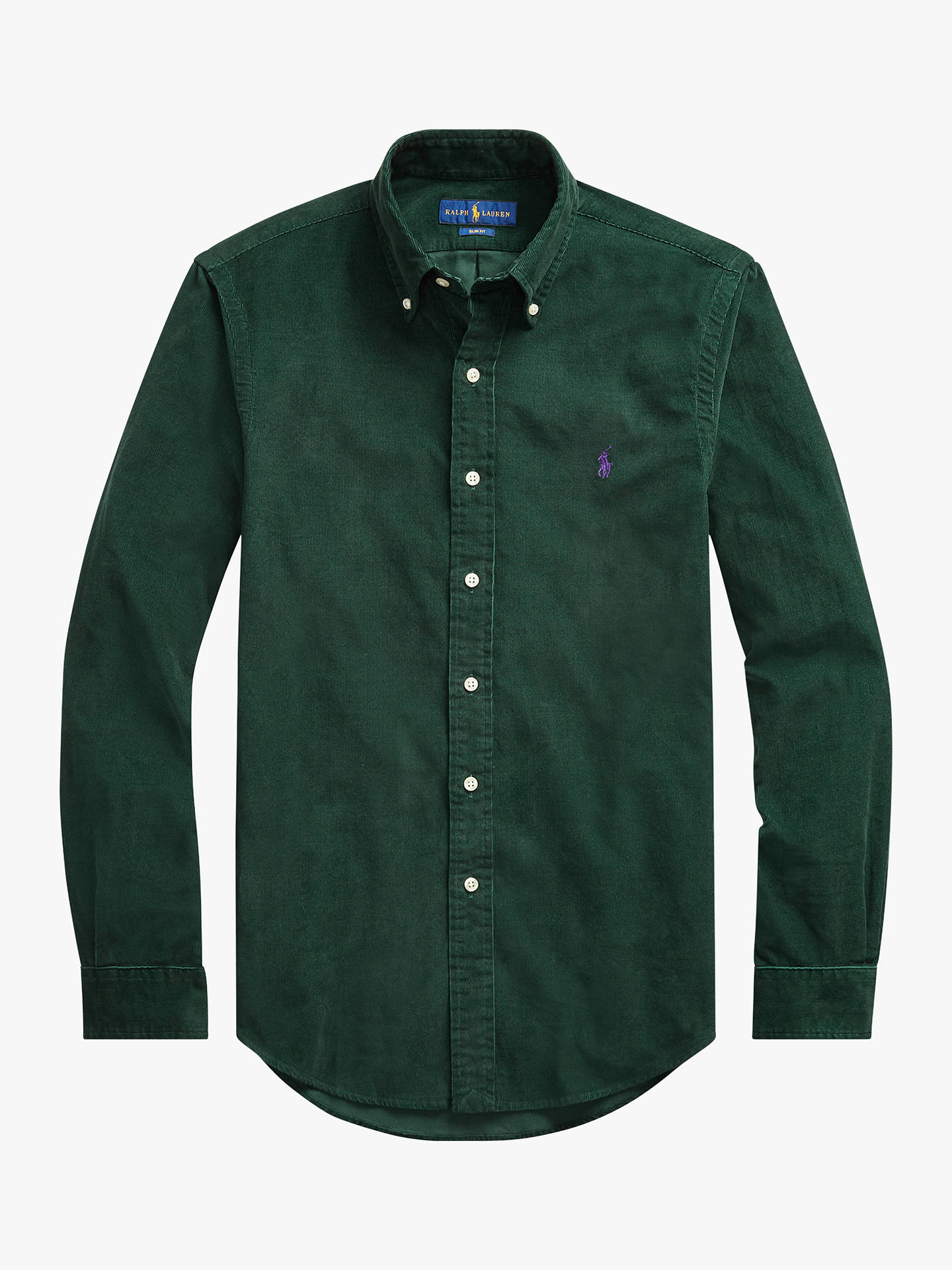 Buy Polo Ralph Lauren Corduroy Sports Shirt, College Green, S Online at johnlewis.com