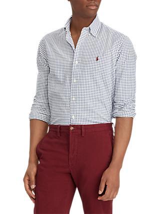 Polo Ralph Lauren Gingham Shirt, Royal Blue/White