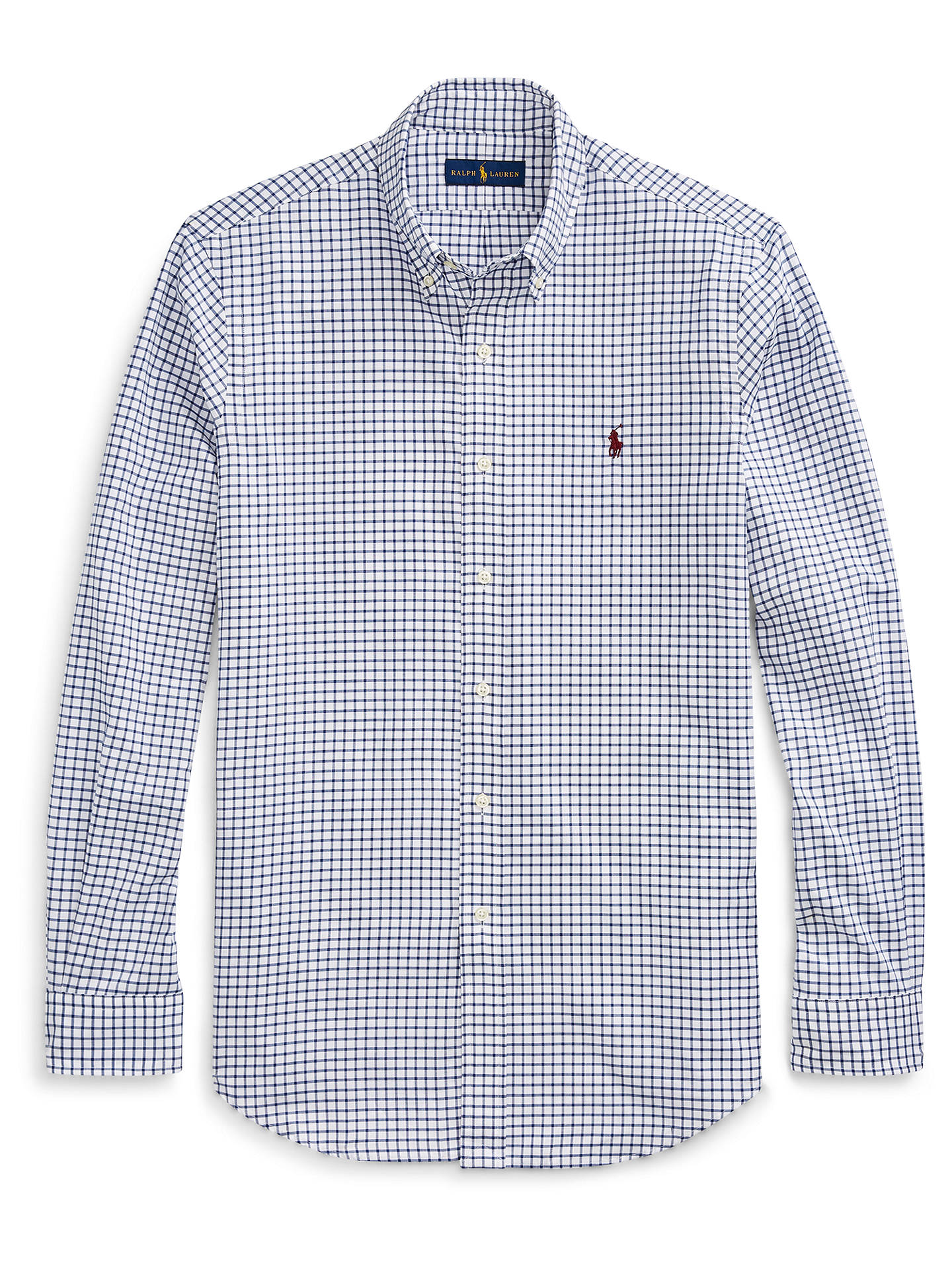 Buy Polo Ralph Lauren Gingham Shirt, Royal Blue/White, XL Online at johnlewis.com