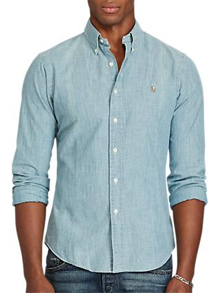 a667416622 Polo Ralph Lauren Chambray Slim Fit Shirt
