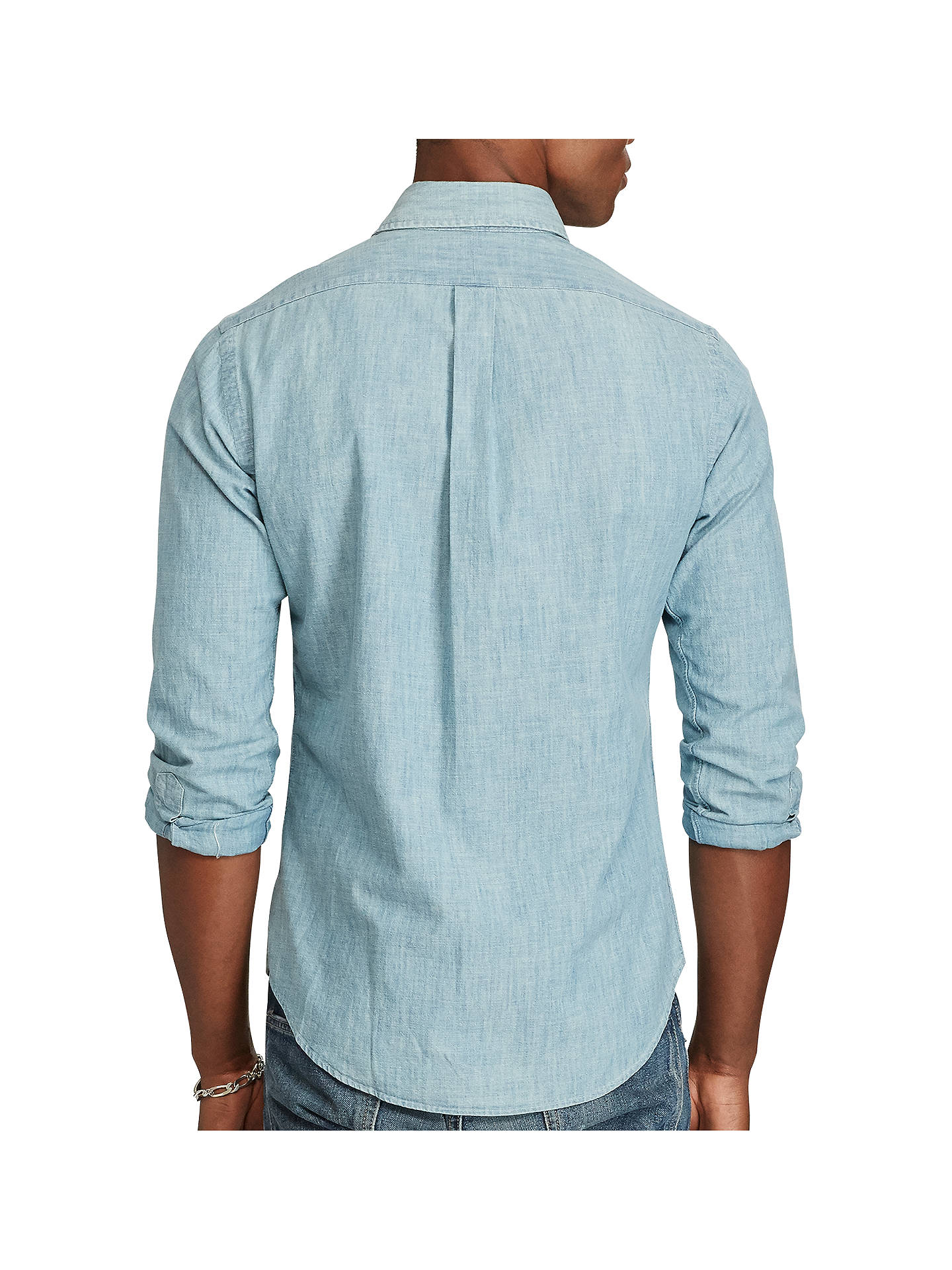 d777a1b0 Buy Polo Ralph Lauren Chambray Slim Fit Shirt, Chambray, L Online at  johnlewis.