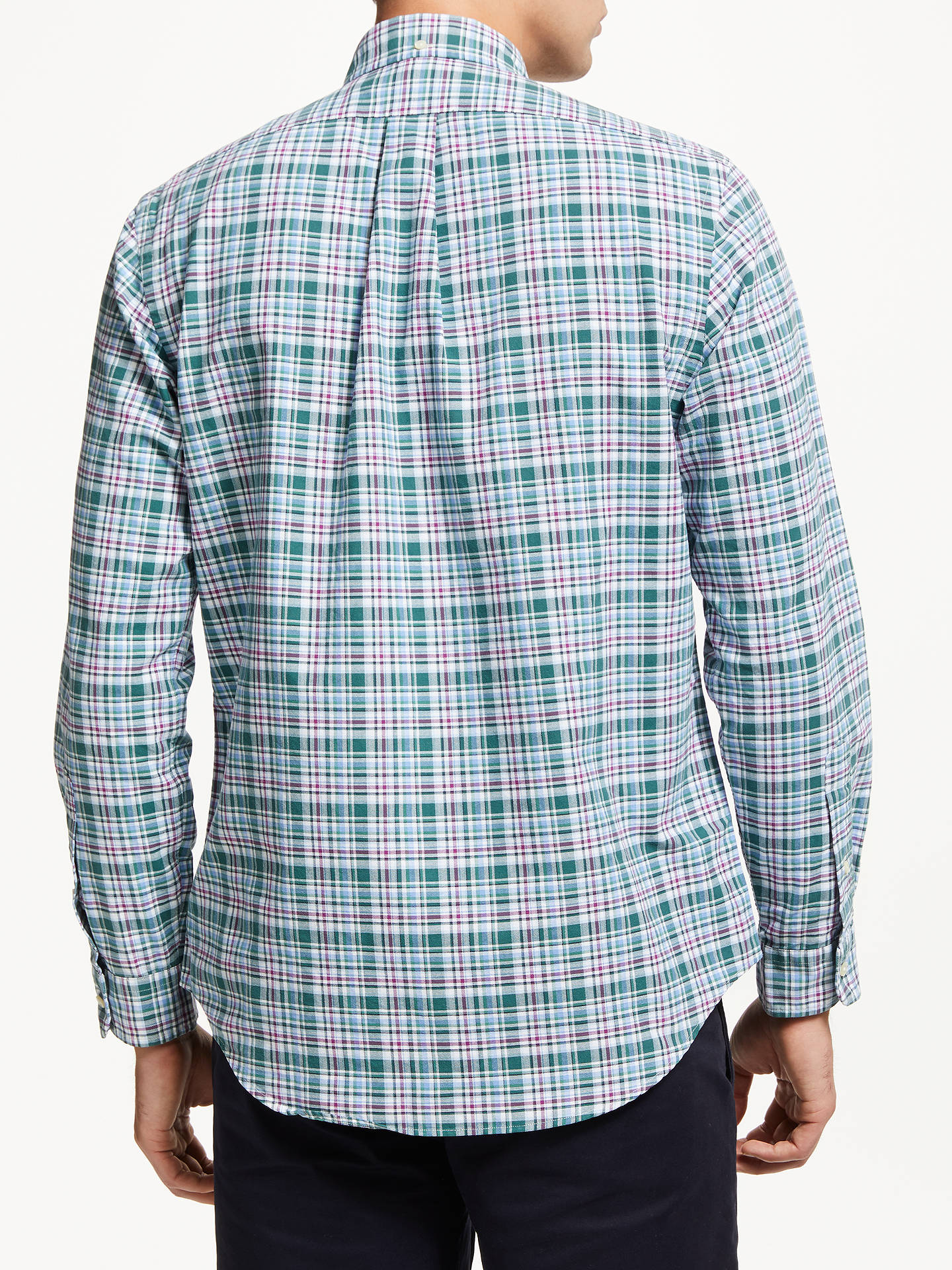 Buy Polo Ralph Lauren Check Sports Shirt, Forest Green/Wine, XXL Online at johnlewis.com