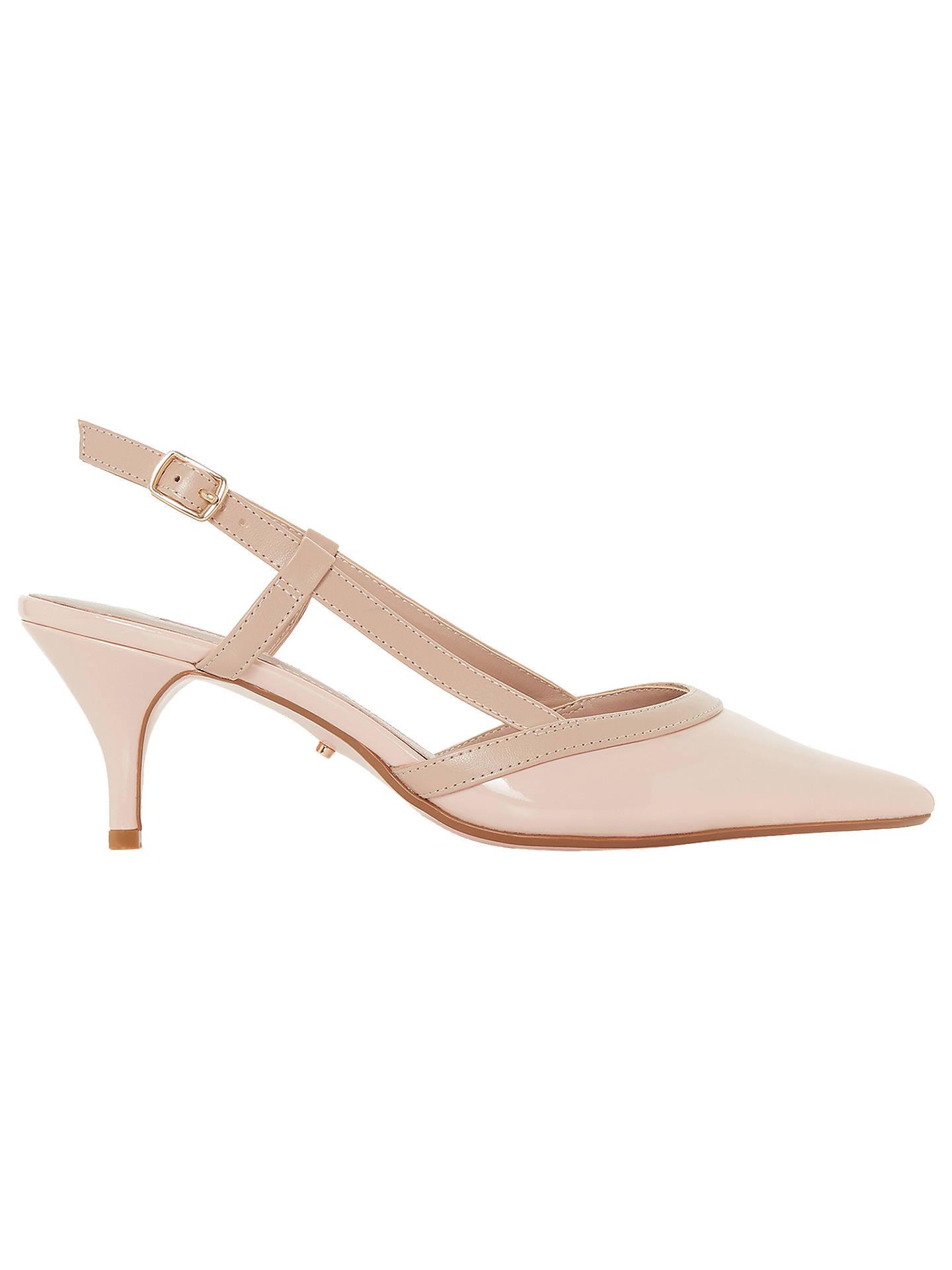 69b3cf7714e Dune Corra Slingback Court Shoes, Pink Patent at John Lewis & Partners