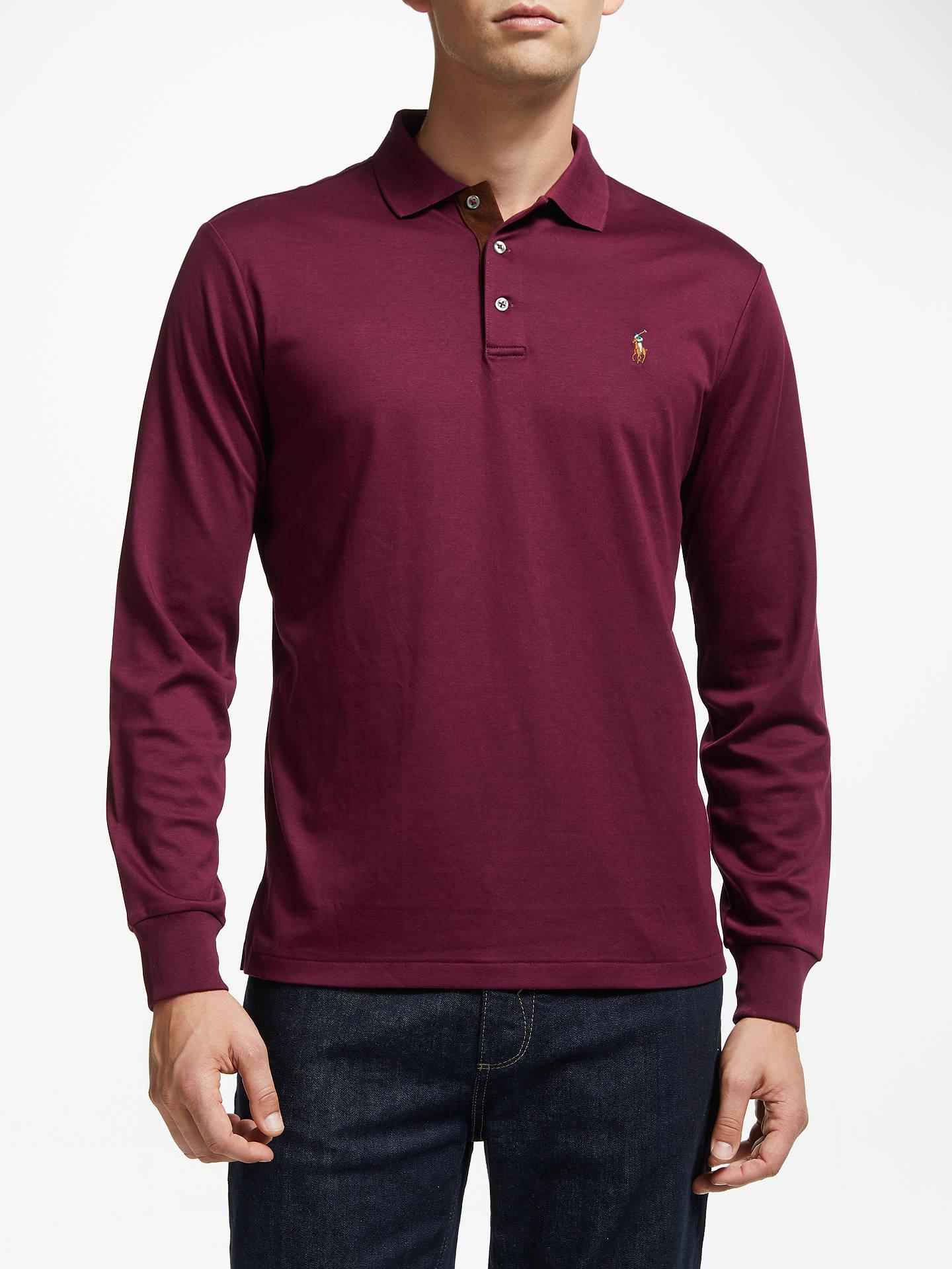 1456ebe6 Buy Polo Ralph Lauren Pima Cotton Slim Fit Polo Shirt, Classic Wine, XL  Online ...