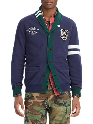 Buy Polo Ralph Lauren Jersey Cardigan, Cruise Navy, M Online at johnlewis.com