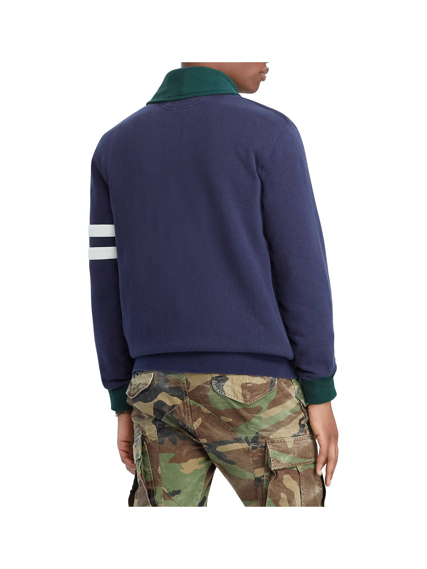 BuyPolo Ralph Lauren Jersey Cardigan, Cruise Navy, M Online at johnlewis.com