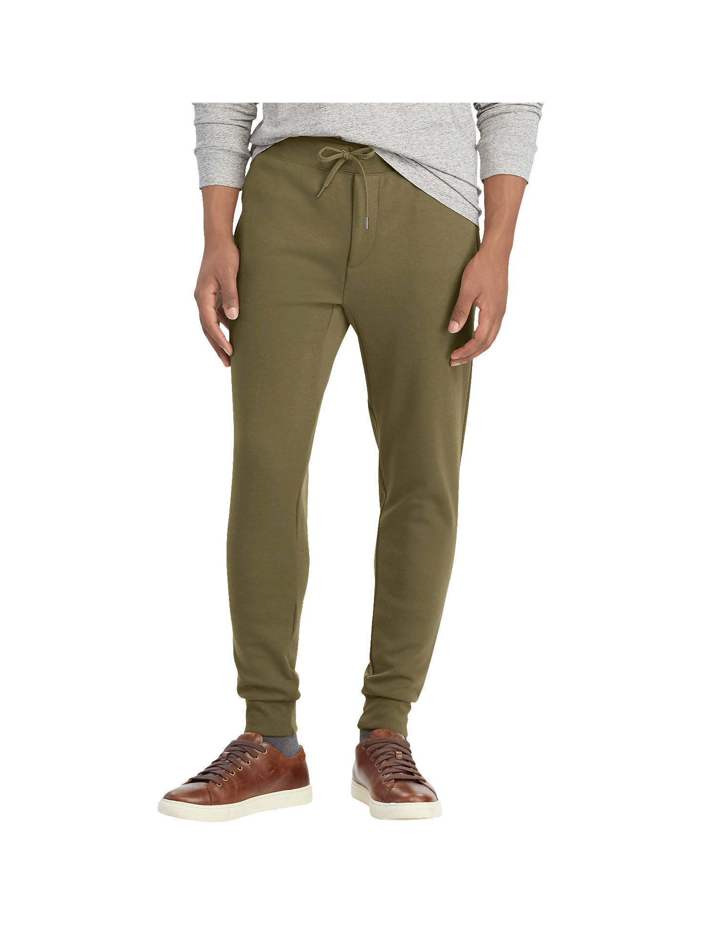 BuyPolo Ralph Lauren Jersey Jogger Trousers, Defender Green, L Online at johnlewis.com