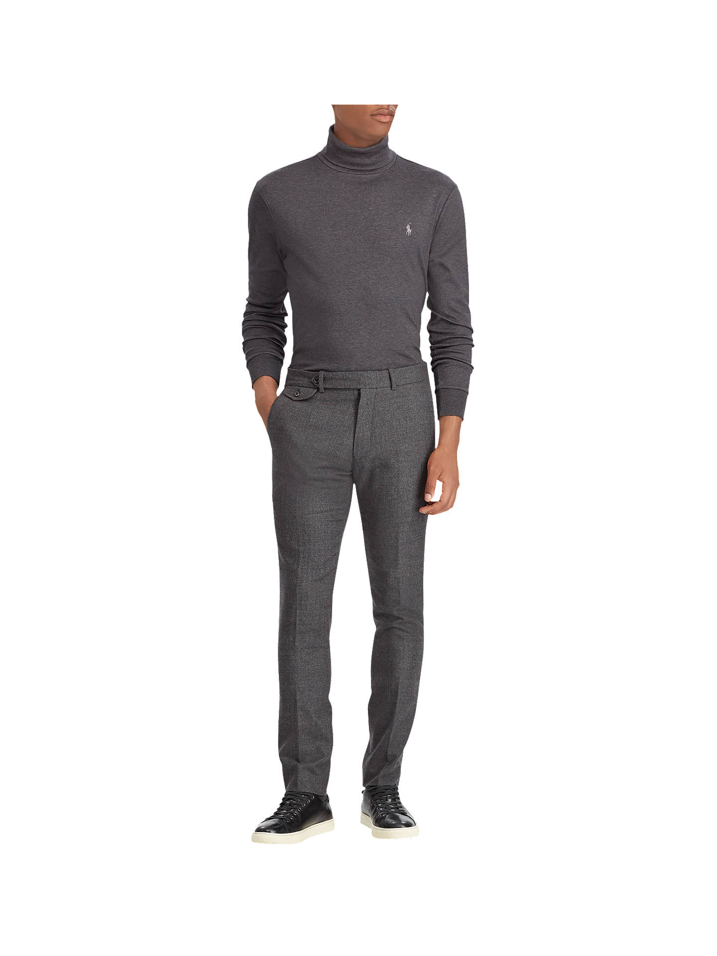 BuyPolo Ralph Lauren Pima Turtle Neck Jumper, Dark Grey Heather, XL Online at johnlewis.com