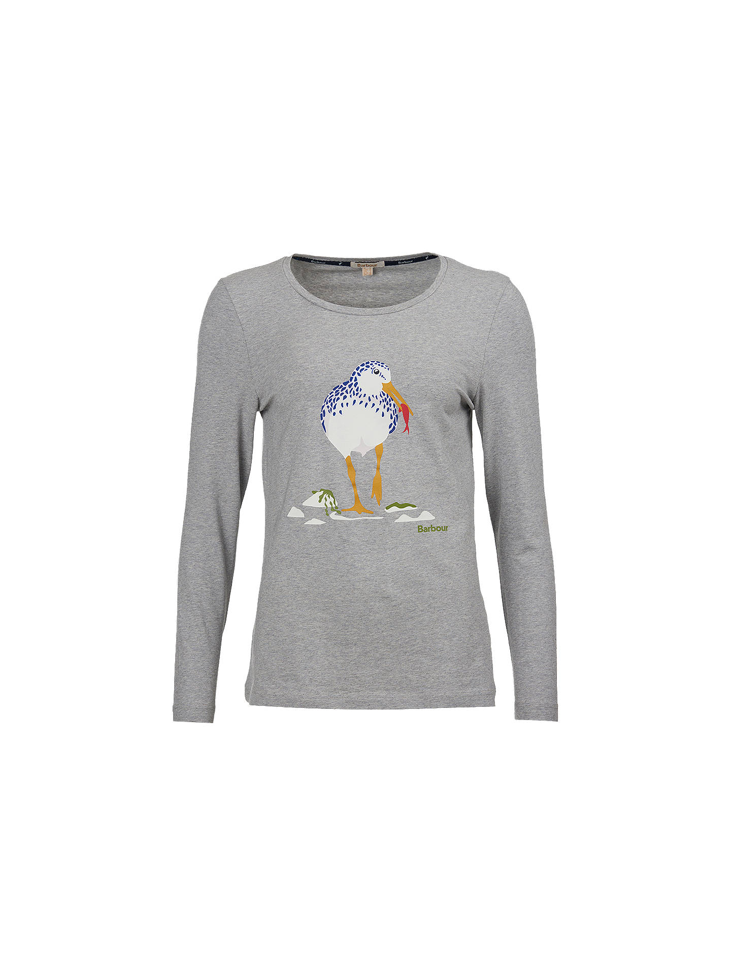 BuyBarbour Coastal Boscombe Seagull Print T-Shirt, Grey Marl, 8 Online at johnlewis.com