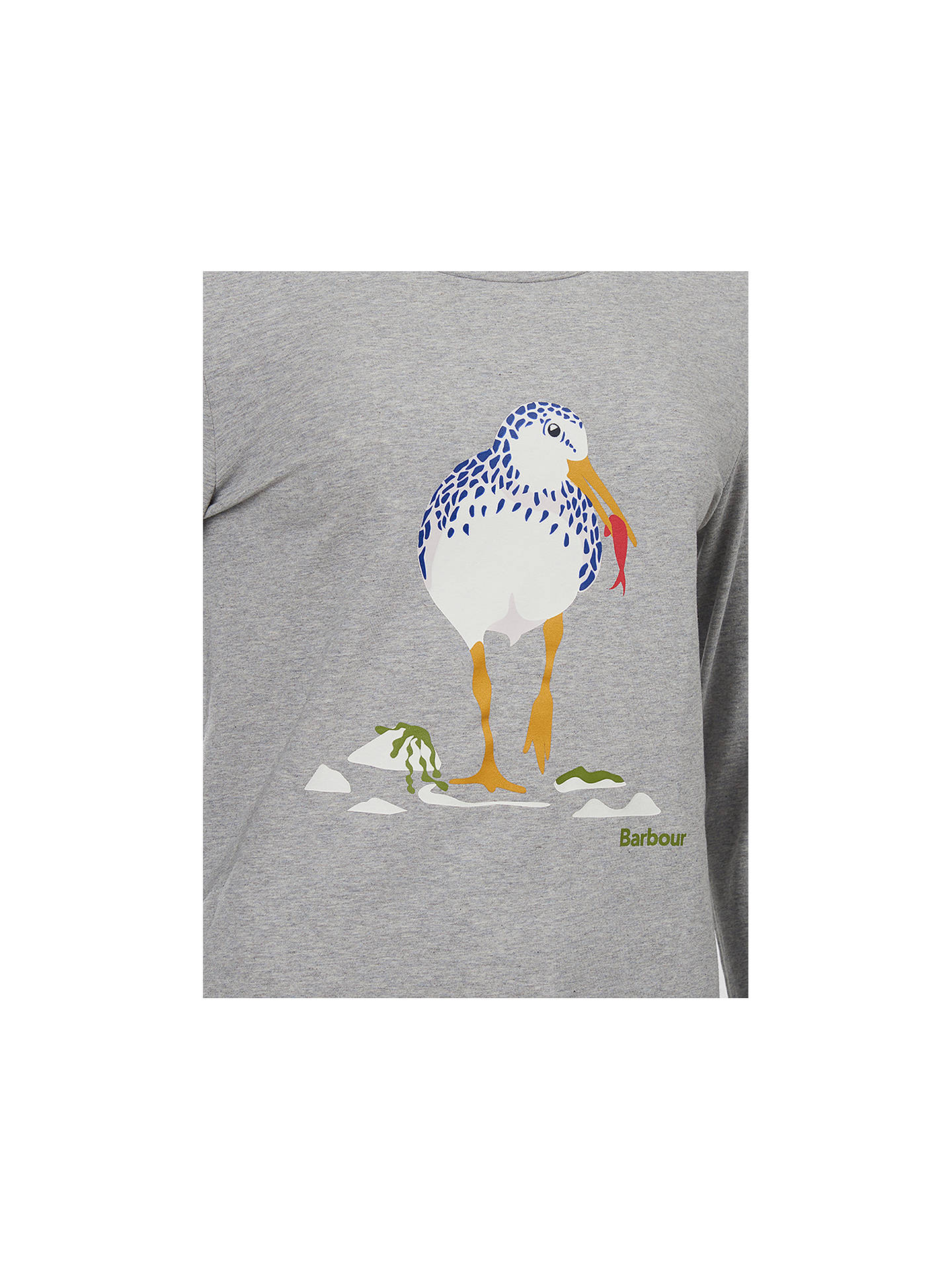 Buy Barbour Coastal Boscombe Seagull Print T-Shirt, Grey Marl, 18 Online at johnlewis.com