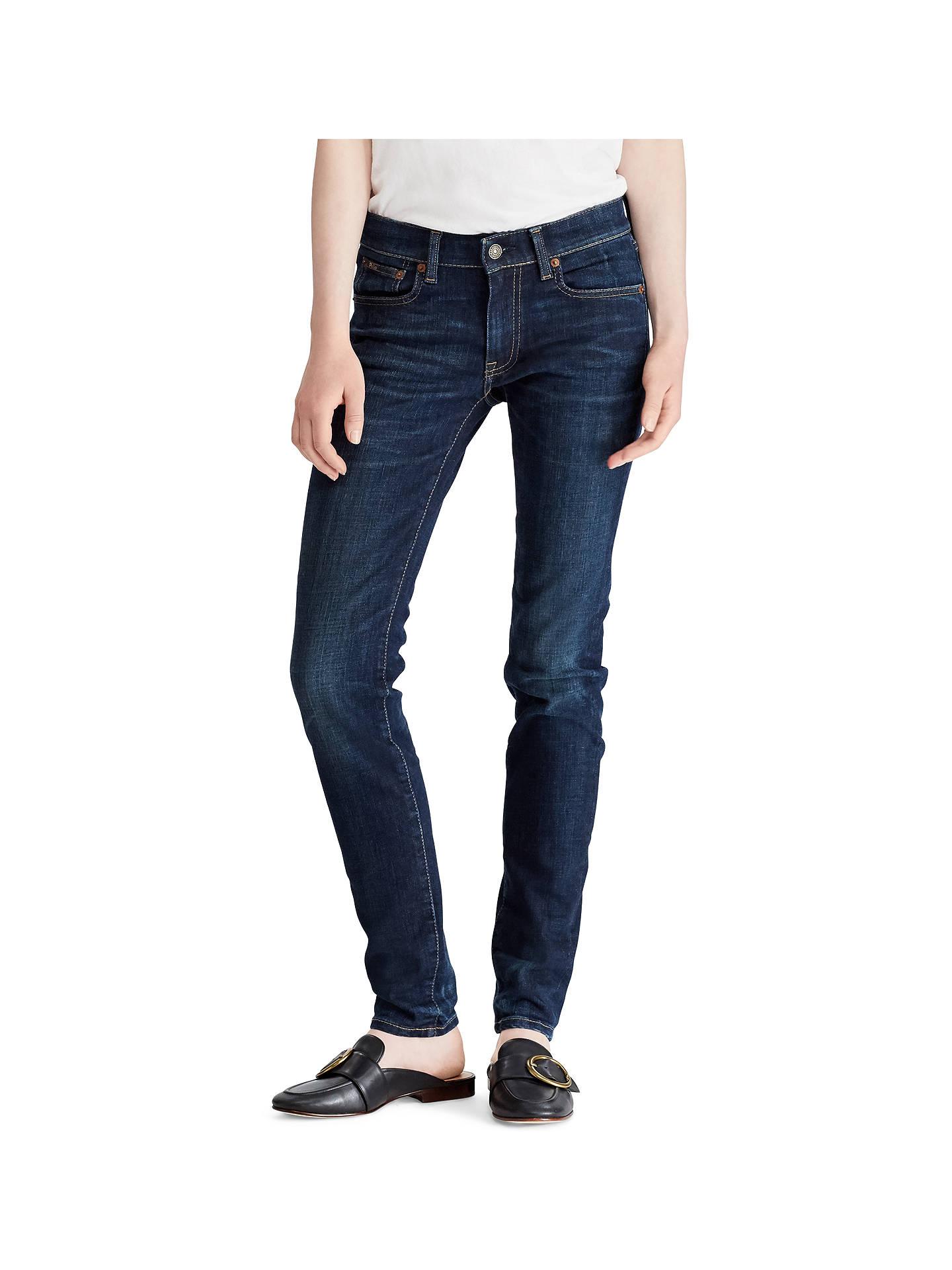 1659003111 Polo Ralph Lauren Tompkins Skinny Jeans, Indigo Serret Wash at John ...