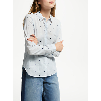 Maison Scotch Heart Print Shirt, White