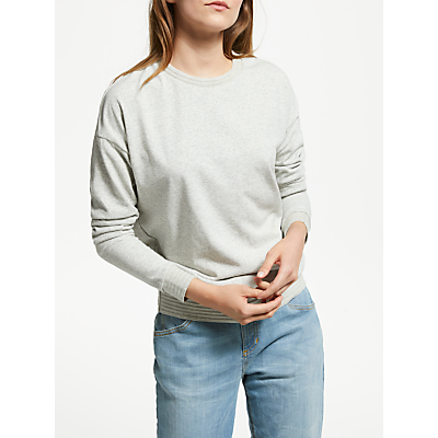 Maison Scotch Burnout Sweatshirt, Grey Melange