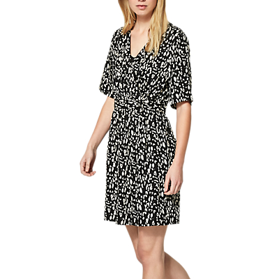Selected Femme Leola Leopard Print Dress, Black/Sand