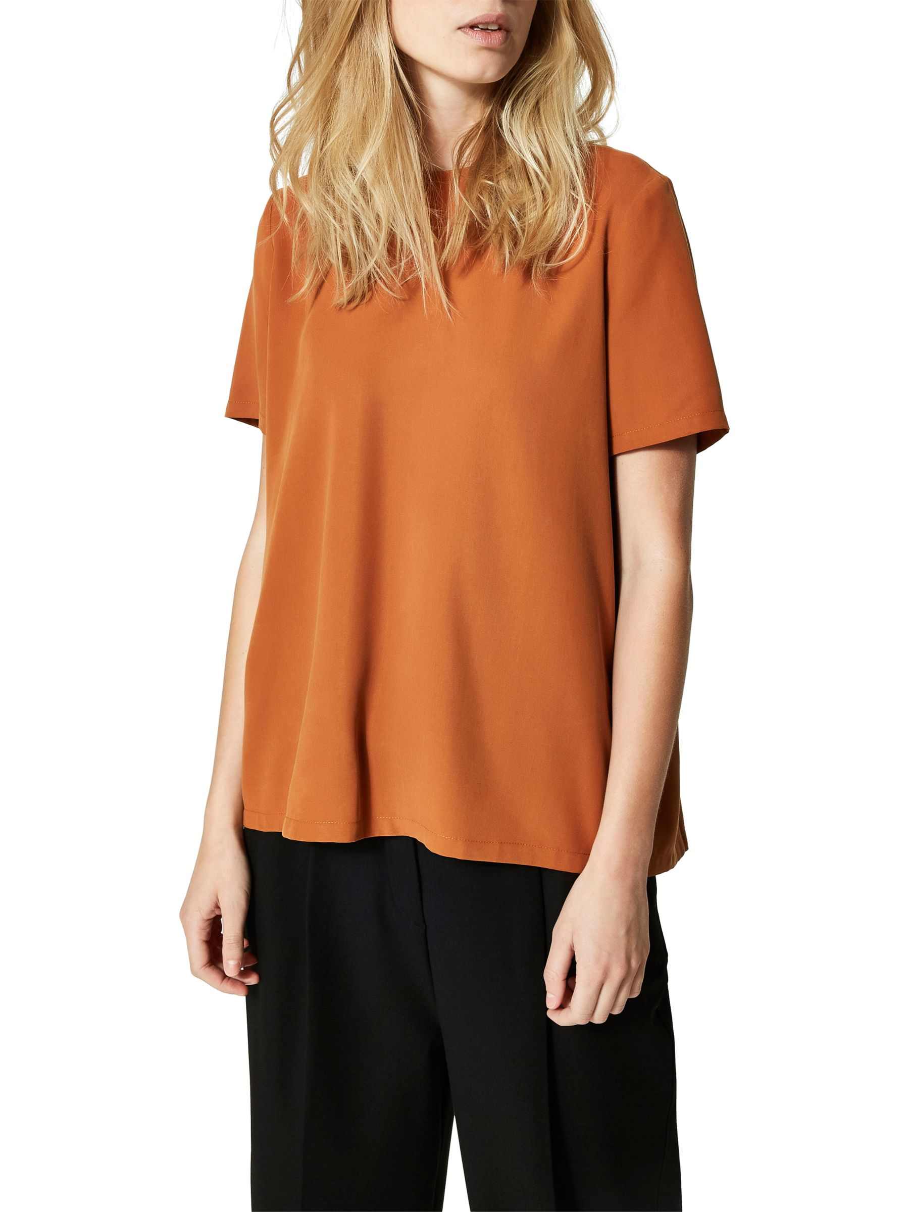3562156bc07c2 Selected Femme Tonia Top, Glazed Ginger at John Lewis & Partners