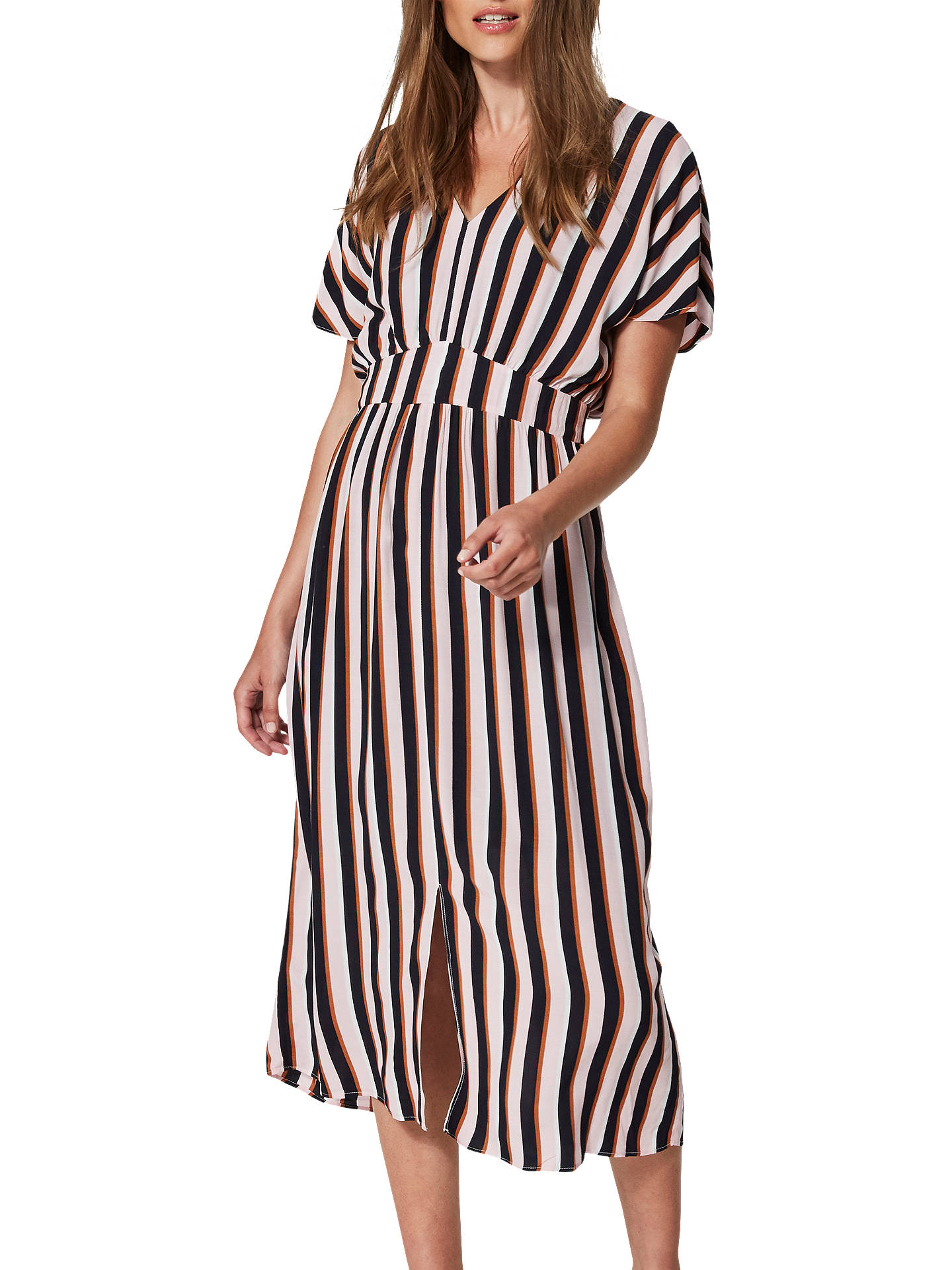 BuySelected Femme Tiana Stripe Dress, Pink Nectar, 8 Online at johnlewis.com