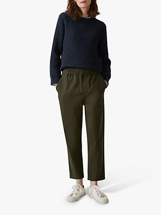 Toast Cotton Twill Pull On Trousers, Loden