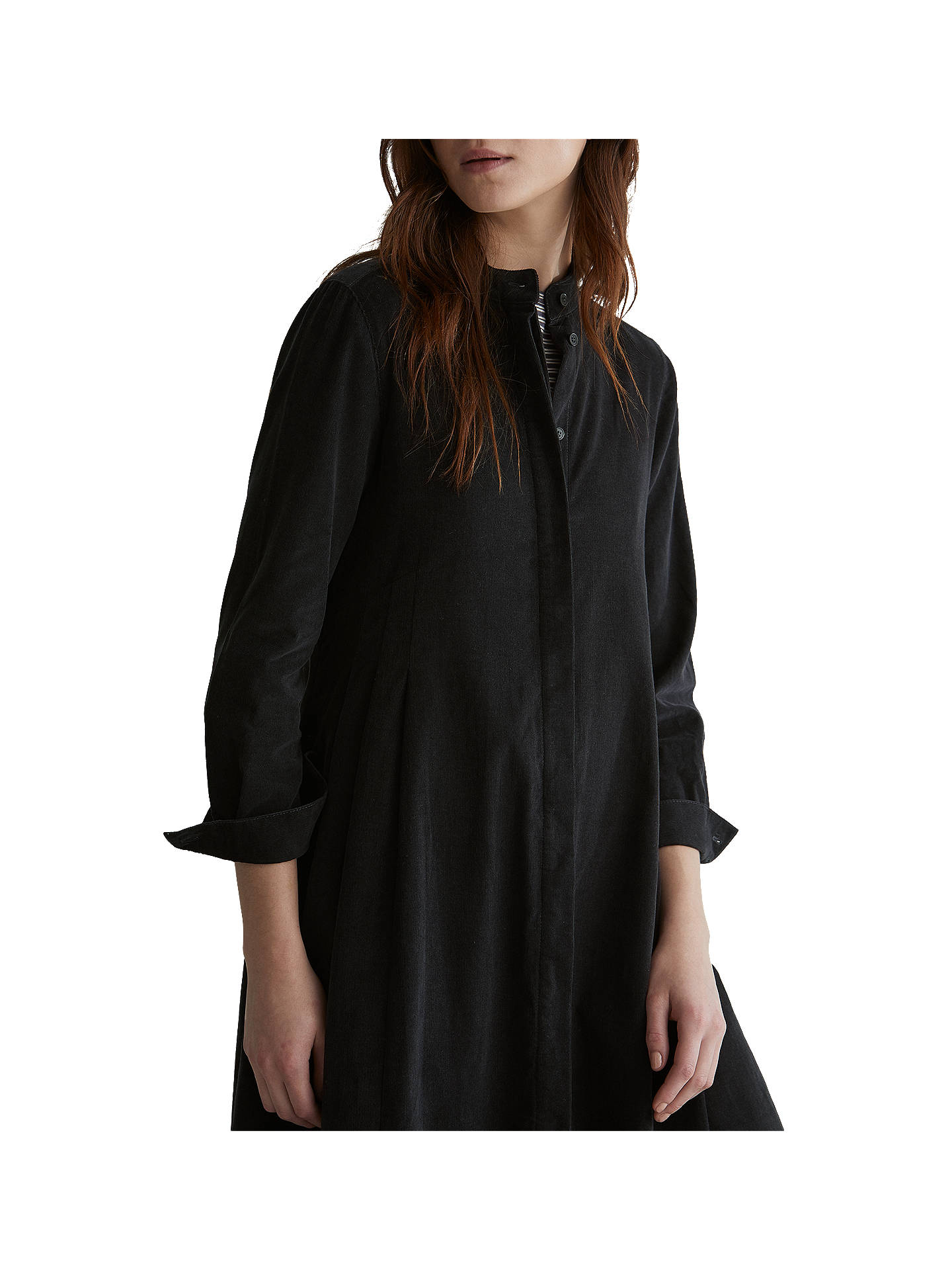 BuyToast Needlecord Swing Shirt Dress, Black Olive, 8 Online at johnlewis.com