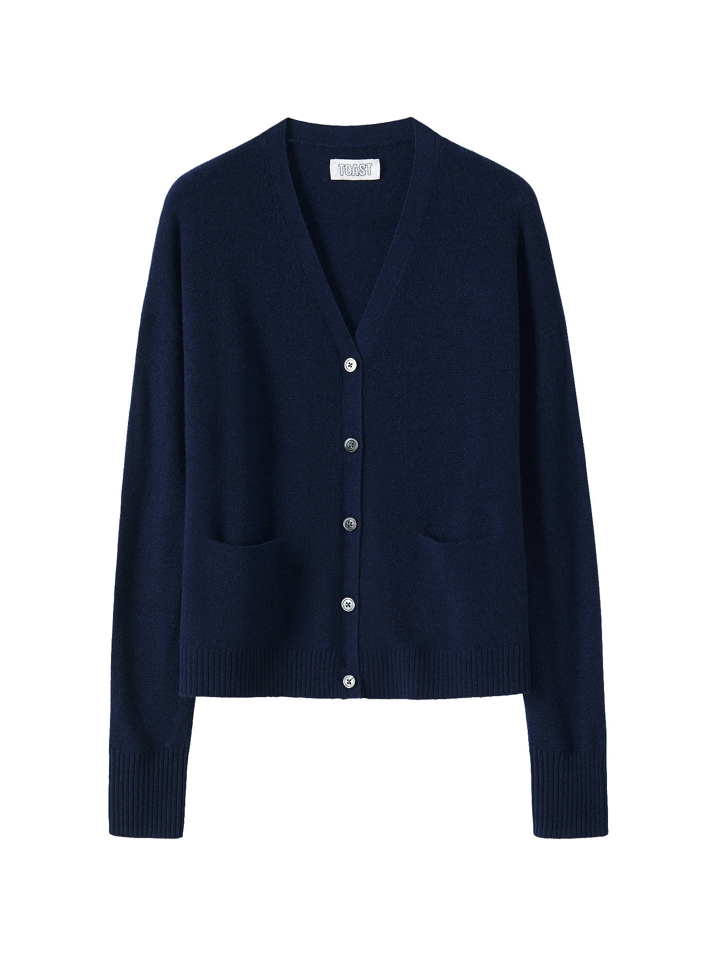 Buy Toast Wool Cashmere Blend Cardigan, Navy, XS-S Online at johnlewis.com