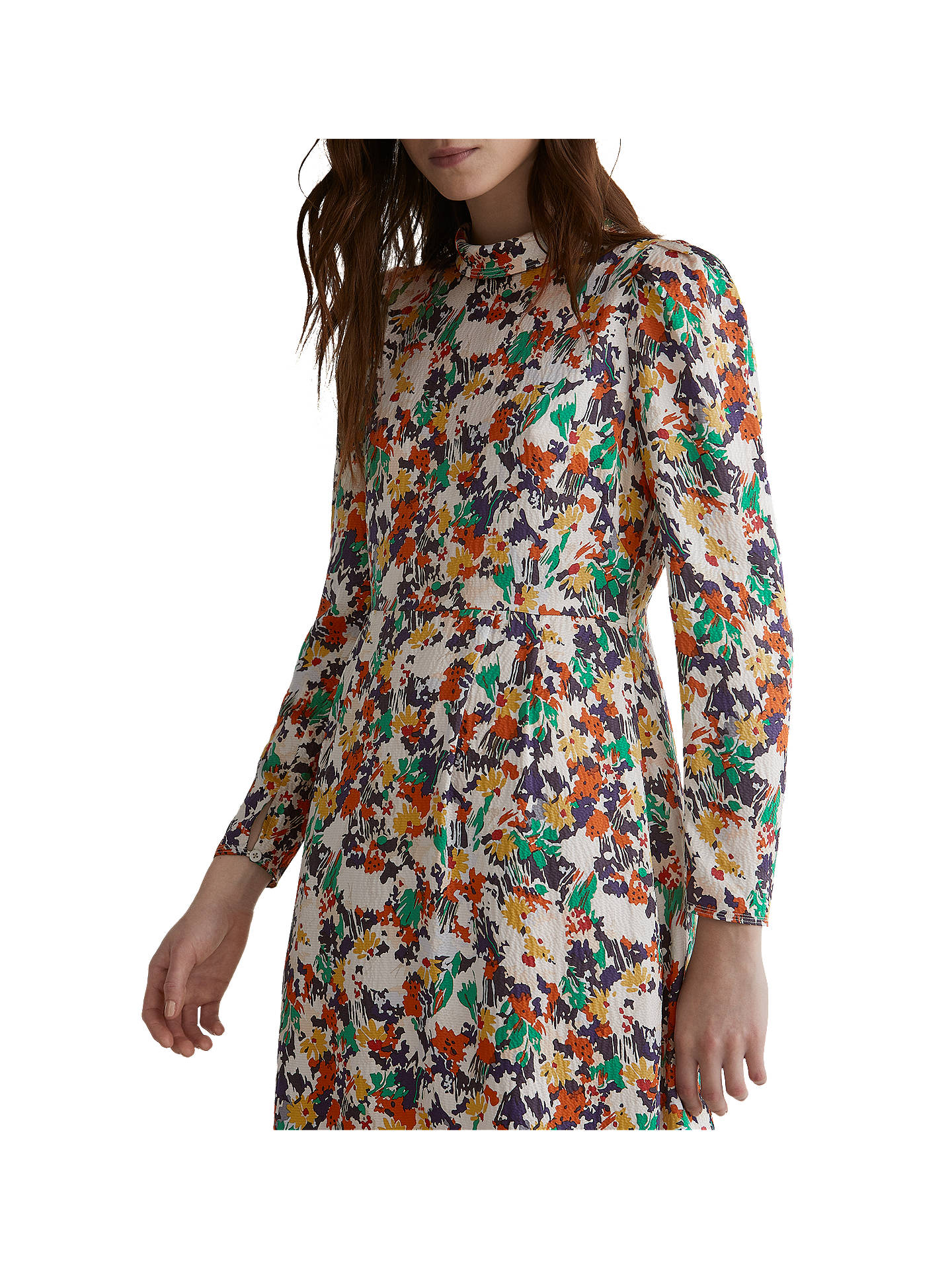 BuyToast Meadow Print Silk Blend Dress, Multi, 8 Online at johnlewis.com