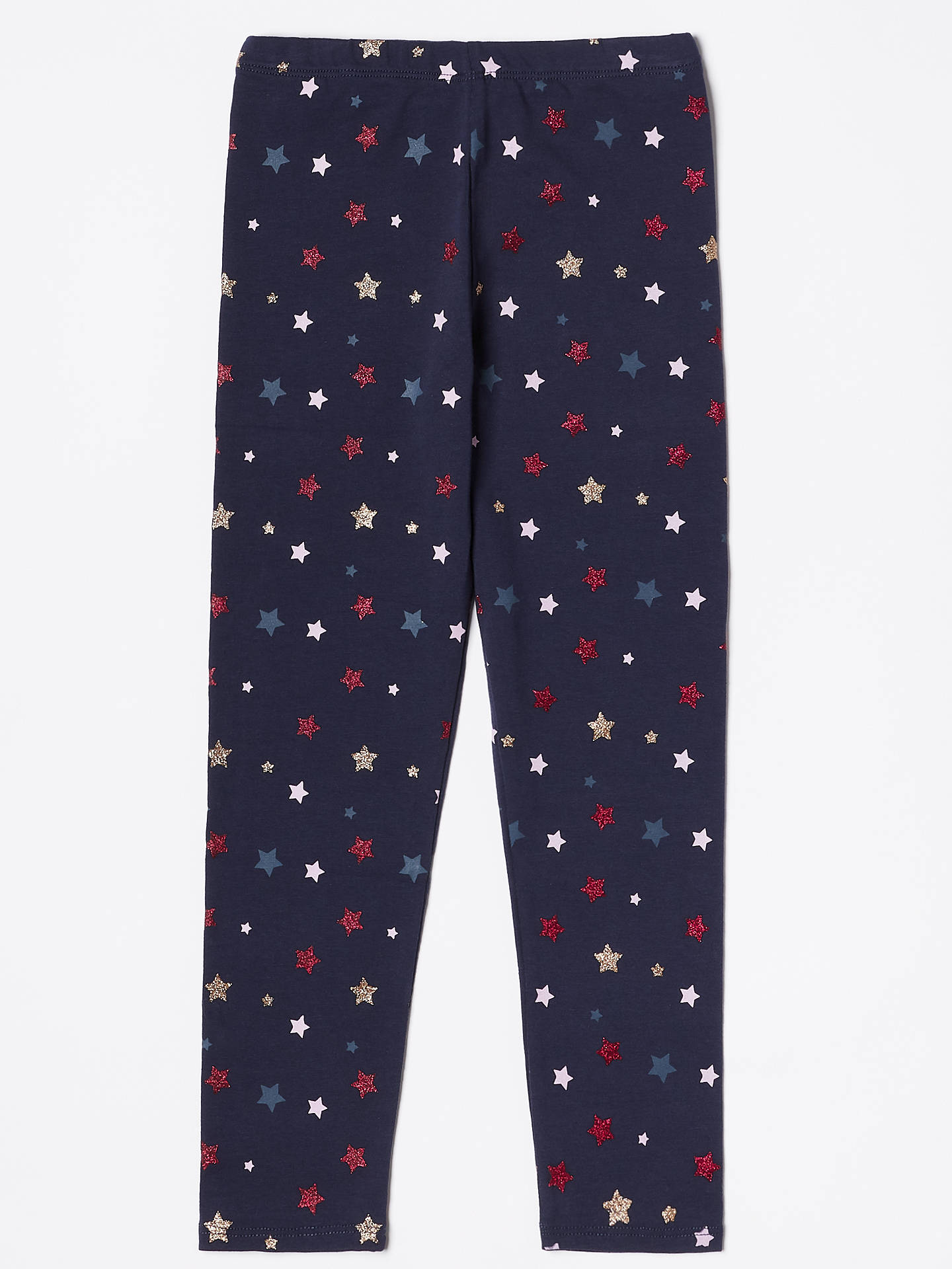 BuyJohn Lewis & Partners Girls' Star Print Leggings, Navy, 3 years Online at johnlewis.com