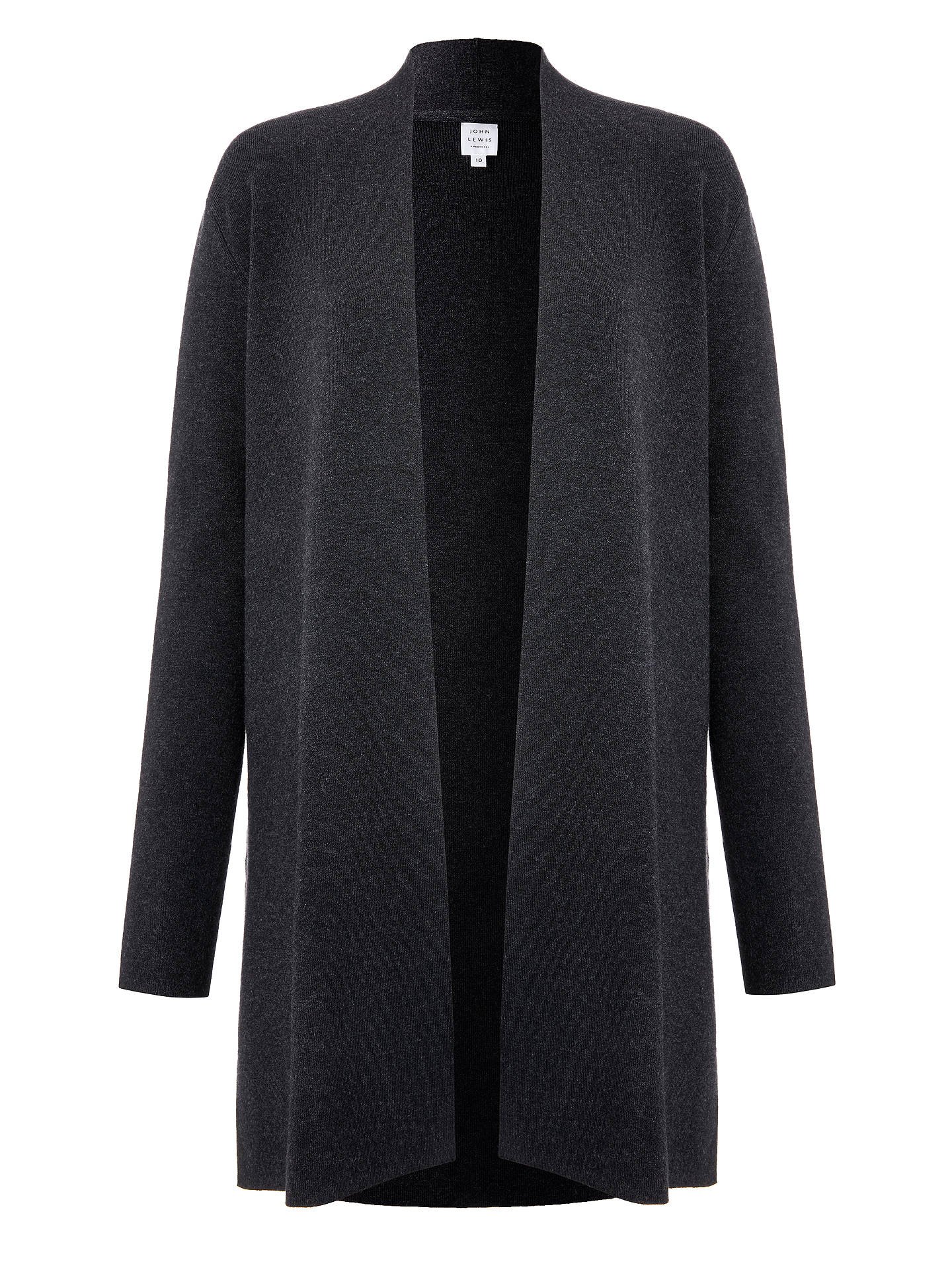 Buy John Lewis & Partners Edge to Edge Cardigan, Charcoal, 8 Online at johnlewis.com