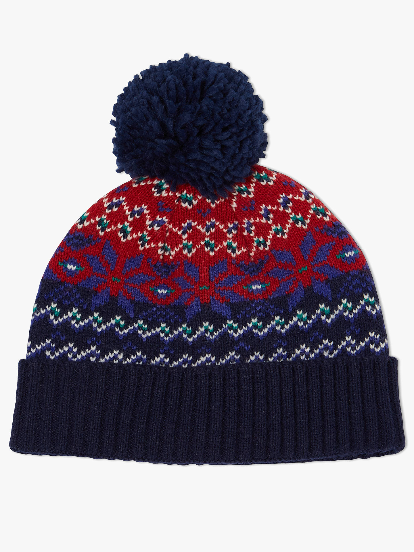 867c3510592 Buy John Lewis   Partners Children s Fair Isle Beanie Hat