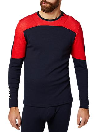 Helly Hansen Lifa Merino Mix Base Layer Crew Top, Navy/Red