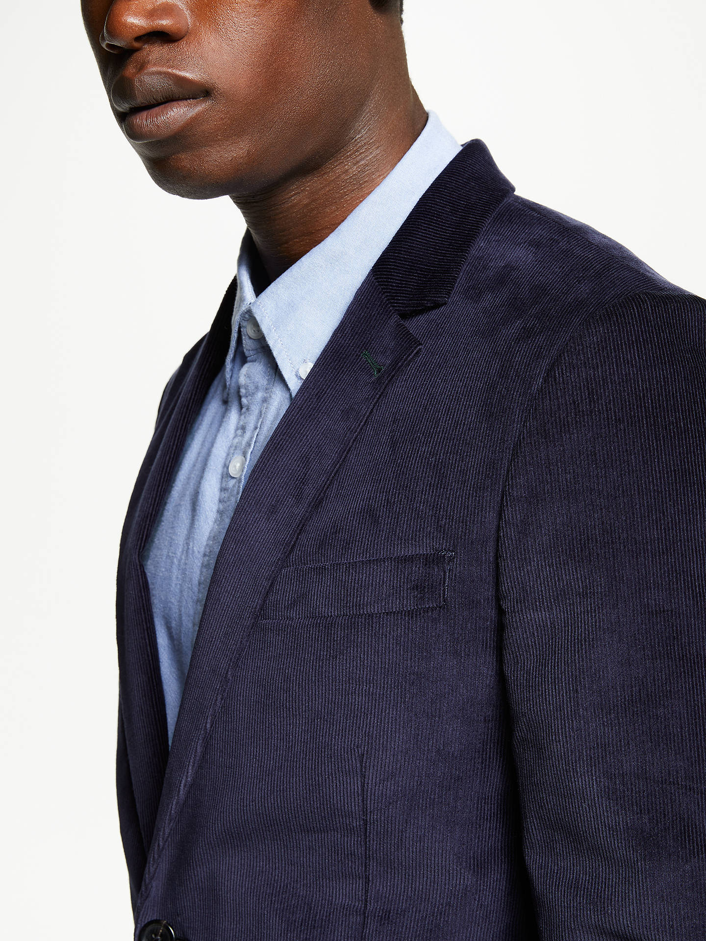 Buy PS Paul Smith Cord Blazer Jacket, Blue, 44R Online at johnlewis.com