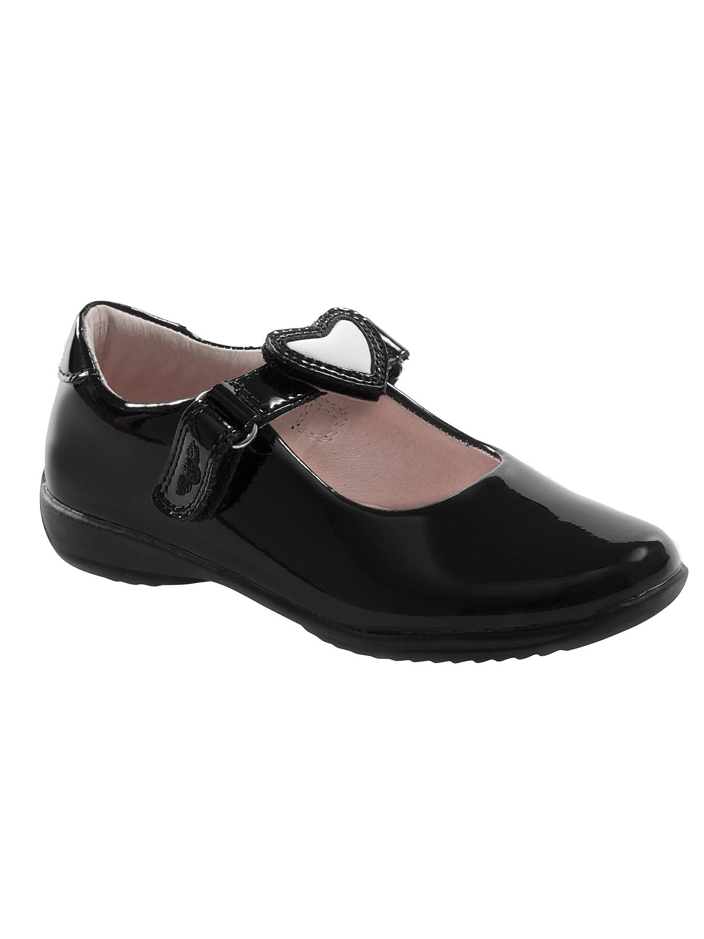 Lelli Kelly Children S Dolly Heart Leather School Shoes