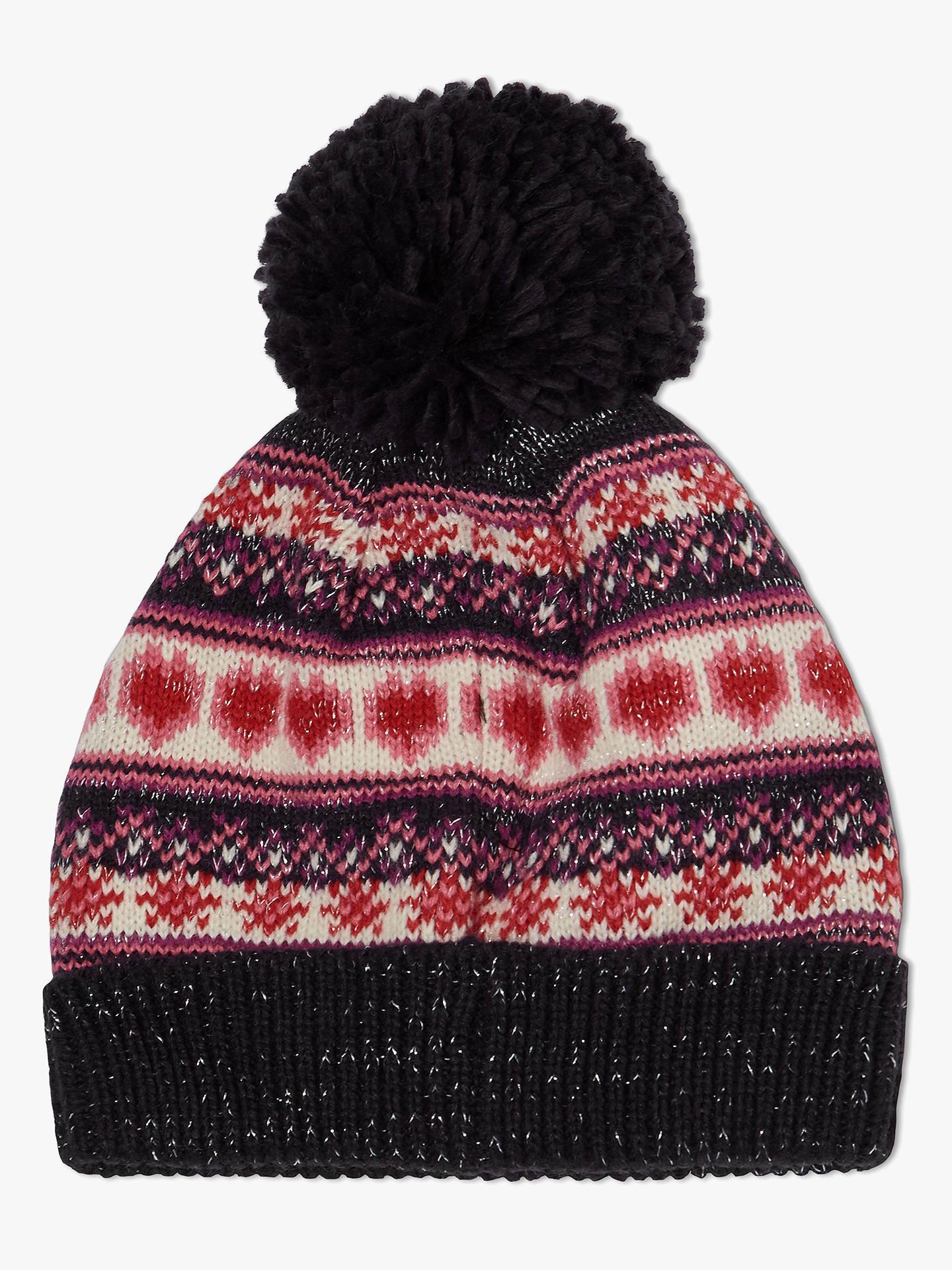 a1bbea0abf33e Buy John Lewis   Partners Children s Christmas Fairisle Glitter Beanie Hat